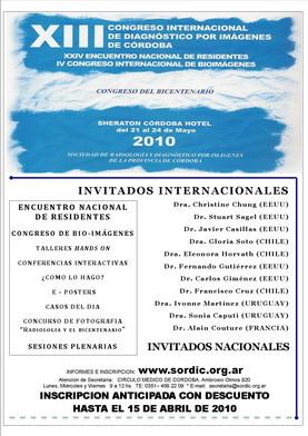 Afiche del Congreso SORDIC 2010