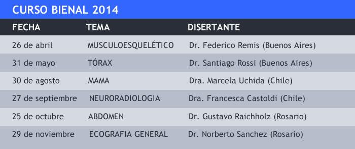 Curso Bienal - Calendario 2014