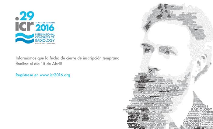 ICR 2016: Nueva fecha de cierre