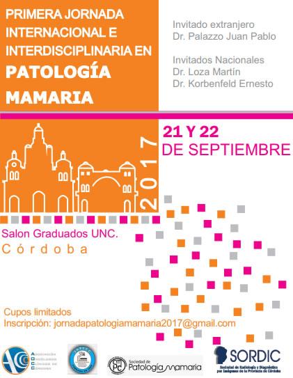 Primera Jornada Internacional e Interdisciplinaria en Patología Mamaria